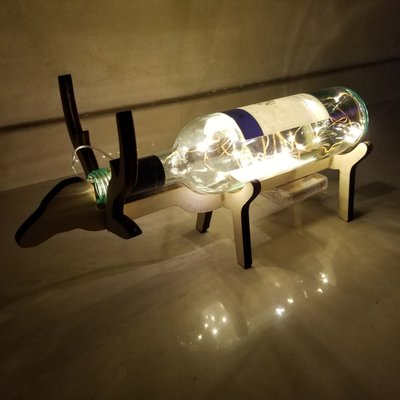 小鹿酒樽燈 wine bottle lamp