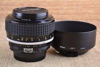 【品光攝影】  NIKON Noct-Nikkor 58mm F1.2手工打磨非球面鏡片 夜之眼 稀有銘鏡 #35368J