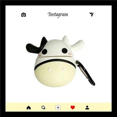 立體牛牛🐮🐮公仔Airpods case蘋果藍芽無線耳機盒保護套