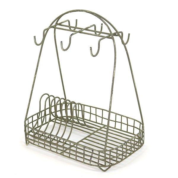 《齊洛瓦鄉村風雜貨》日本ZAKKA 仿舊鐵製盤架 餐具收納架