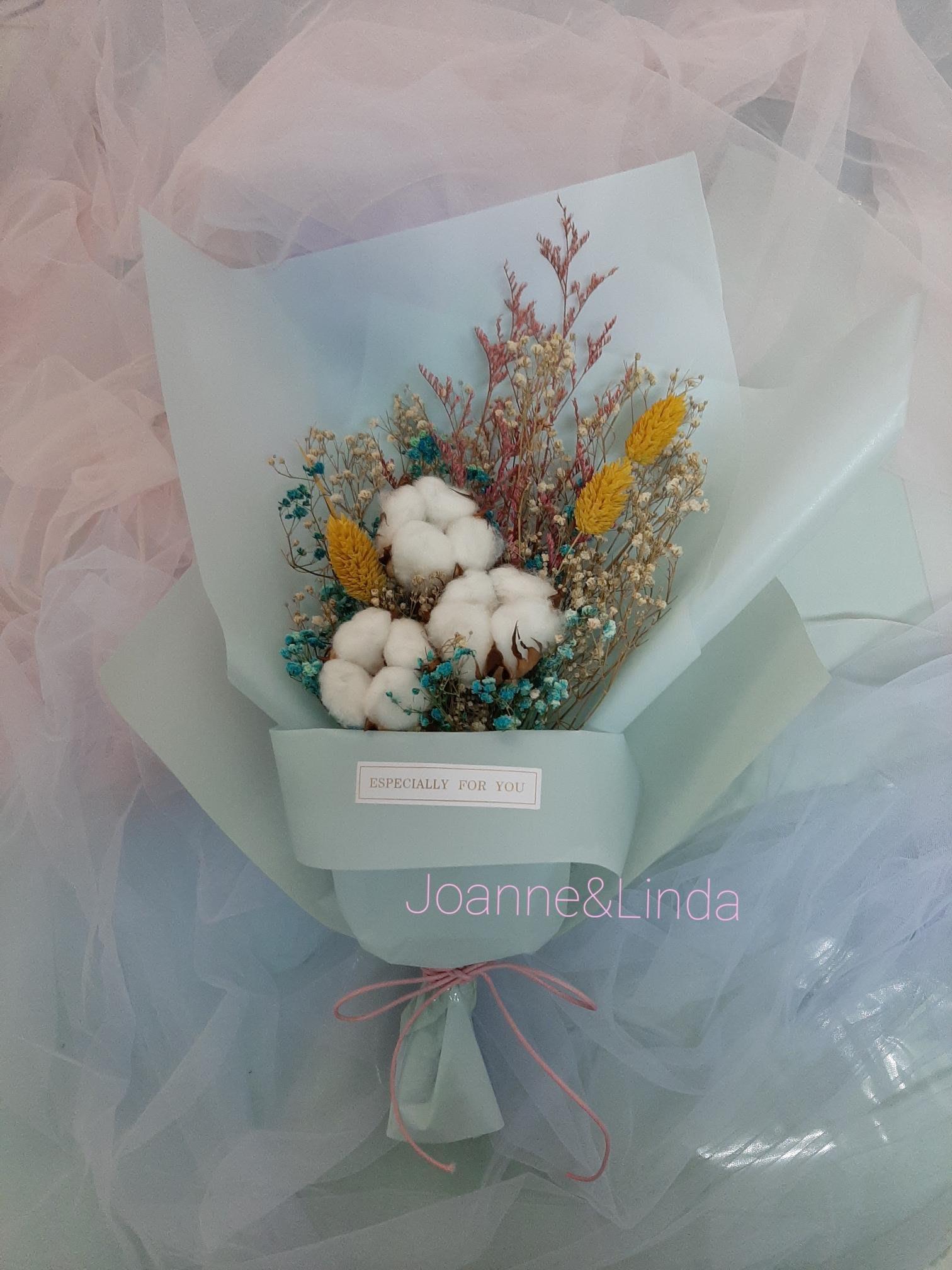 Joanne&Linda 棉花乾燥花束