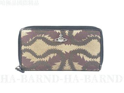 【哈極品】 二手商品《Vivienne Westwood》布面12卡夾拉鍊長夾