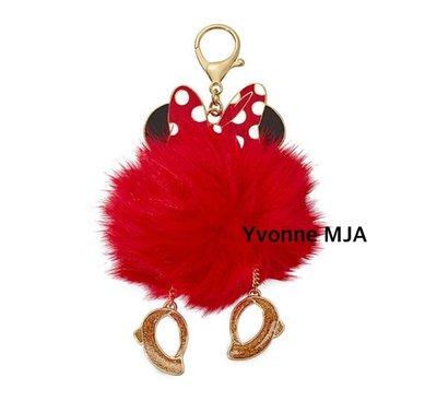 *Yvonne MJA*美國迪士尼預購區限定正品 米妮 Minnie 毛毛吊飾