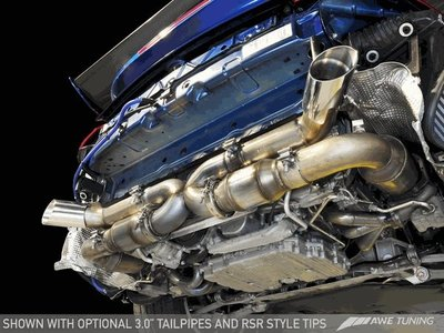 【汽車零件王】 AWE Porsche 997.2TT 排氣管 Solution - 鑽石黑 四 尾飾管