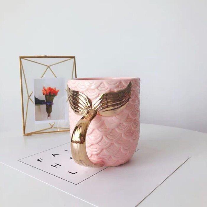 PARIS WOMAN.珍珠釉.金色美人魚 馬克杯 擺飾 化妝桶收納
