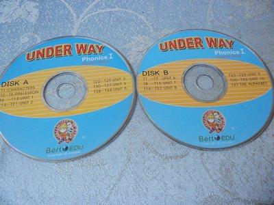 【彩虹小館】Z01兒童CD~UNDER WAY Phonics I (diskA+B+1~3片)Bert EDU