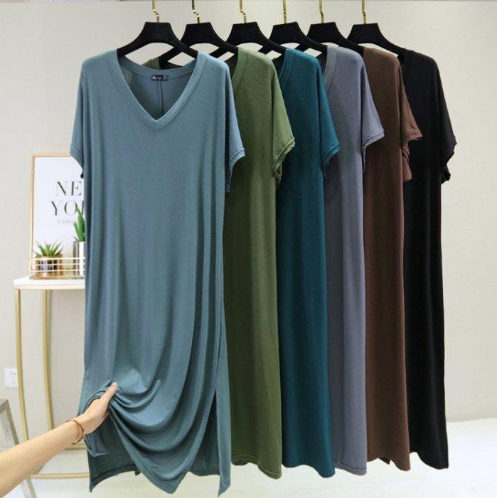 貓姐的團購中心~有中大碼~莫代爾大V寬鬆睡衣裙~6種顏色~L-XL一件320元~預購款