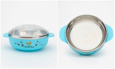 304不鏽鋼鄉村熊兒童碗隔熱碗12cm/ 附上蓋/ 雙耳柄~安心!輕巧!耐用! 台中市