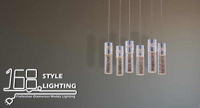【168 Lighting】水晶玻璃《LED吊燈》(三款)三燈款GI 71258-5