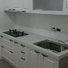*美麗櫥*鄉村風古典ㄧ字型~高雅人造石檯面、新型古典門板廚具210公分+櫻花三機$59900