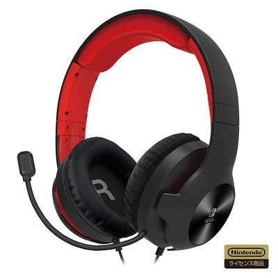 全新 NS Switch Lite Gaming Headset Standard 紅色耳機 (日版, HORI)