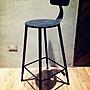 尼克卡樂斯~ Nicolle Chair鐵皮凳面高腳椅 酒...