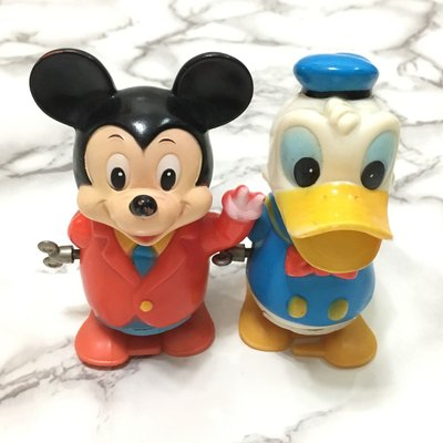 Disney Mickey Mouse, Donald Duck wind up toys 米奇、唐老鴨 上鏈公仔