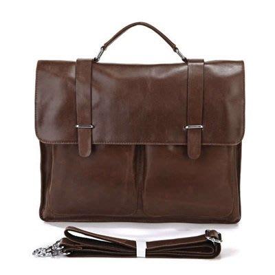 手提 包 真皮公事包-牛皮15吋方型休閒男包包2色73ur16[獨家進口][米蘭精品]