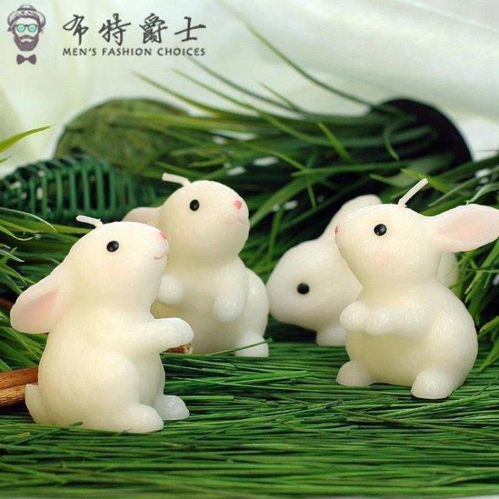 兒童生日派對玉兔創意生日蠟燭小兔子兔生肖蠟燭送朋友感恩交換禮物聖誕狂歡好康八折