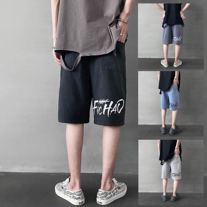 ♥【📷HU帥氣潮男爆款】☛型男必備 ☚韓版學院風寬鬆直筒五分褲♥