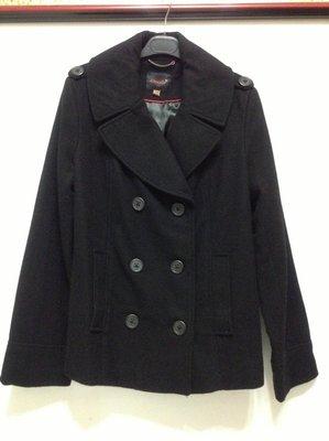 CLOUDY 黑色76%羊毛長袖短版外套 34號