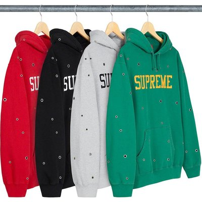 【美國鞋校】預購 SUPREME SS20 Eyelet Hooded Sweatshirt 帽TEE