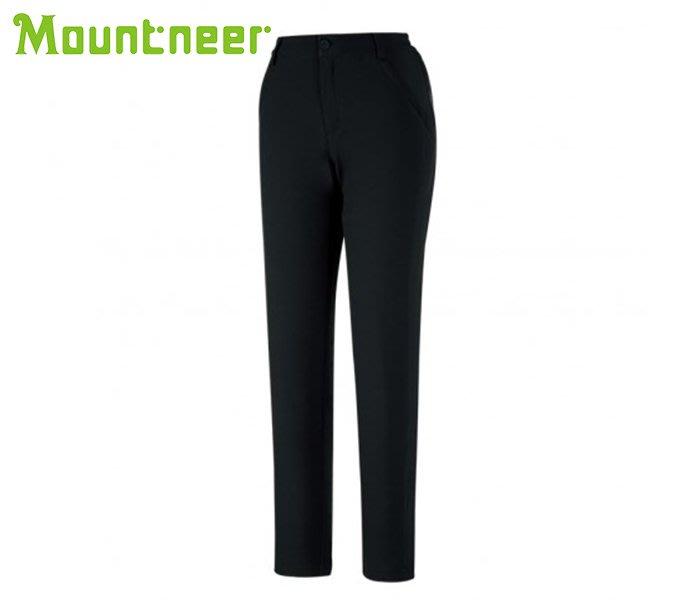 丹大戶外【Mountneer】山林休閒 女SOFT SHELL保暖極窄管褲 32S06-01黑色