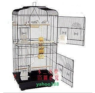 美學99黑色平頂大鸚鵡籠 鳥籠 玄鳳籠 群鳥籠鳥窩鳥屋鳥房子鸚鵡鳥籠適合❖0834