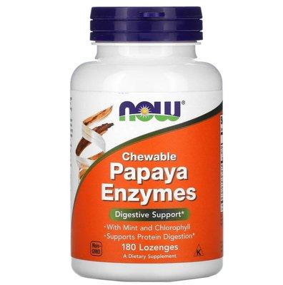 青木瓜 植物酶 植物酵素 Papaya Enzymes 180片 Now Foods 六酵合一 消化酶 分解酵素 益生菌