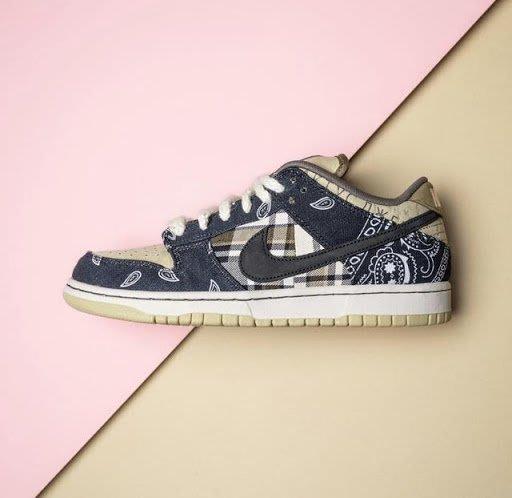 現貨☆HAru☆ Travis Scott x Nike SB Dunk Low Cactus Jack 變形蟲 滑板鞋