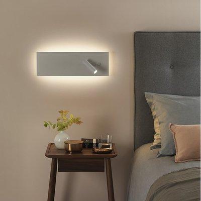 Rectangle 長方形LED壁燈 現代簡約北歐 雙光源 雙開關LED壁燈 酒店床頭閱讀燈 氛圍燈 110-220V