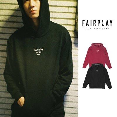 【GT】FairPlay Dunstan 黑酒紅 連帽T恤 長袖 帽衫 休閒 素色 寬鬆 美牌 基本款