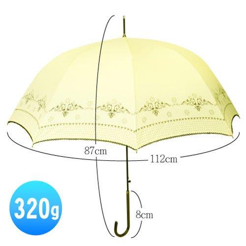 英式典雅抗UV自動開直傘/雨傘