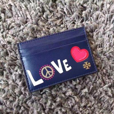 SUNDAY 代購  美國正品 Tory Burch  紀念卡包 藍色