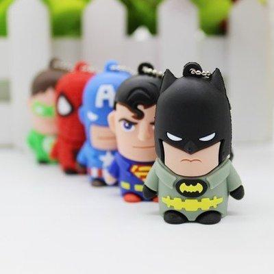 復仇者聯盟英雄系列=超Q造型隨身碟 USB 8G 蜘蛛人鋼鐵人蝙蝠俠美國隊長超人 電影動漫 送小孩禮物 創意實用兼具