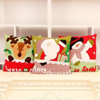 玩偶 聖誕節 絨毛玩具 裝飾 擺件圣誕節禮物小禮品抱枕可愛圣誕抱枕靠枕送女生毛絨布藝沙發靠墊
