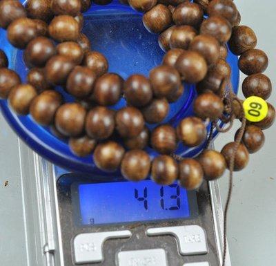 宋家苦茶油nathanagarALL.60越南芽莊黑老虎奇楠108顆手珠10mm..41.3克