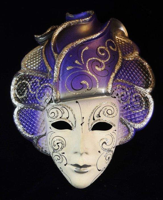 *阿威的藏寶箱*【面具 義大利面具(威尼斯面具)特價 高28公分x寬24公分x深7.5公分】品相優 值得收藏