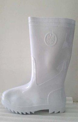 ☆°萊亞生活館~~台灣製高級雨鞋【白色膠鞋-男生款A-373】無內裡工作鞋