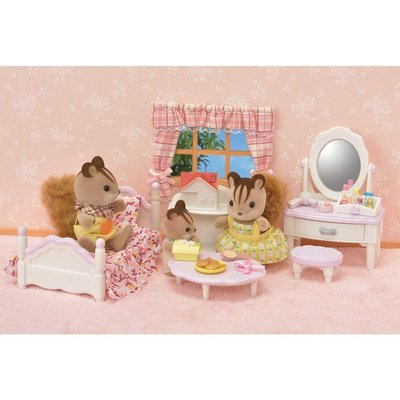 「美樂媽咪」美國正品 森林家族 Calico Critters  臥室和鏡子梳妝台-不含人偶