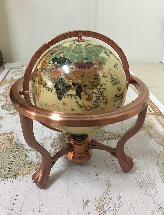 【友客里】((1世界地圖)) 地球儀-- 中英文- 37xx直徑32cm