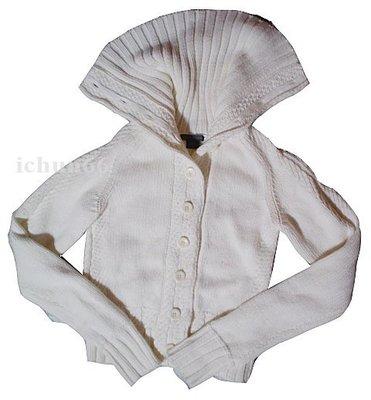 轉賣 AX A/X Armani Exchange Logo 高領 針織衣 短外套 紐釦 開襟 XS 暇疵