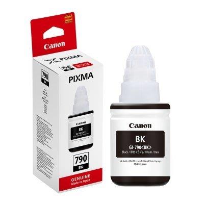 全新CANON GI-790 BK  黑色 原廠盒裝墨水 適用G2002/G3000/G4000