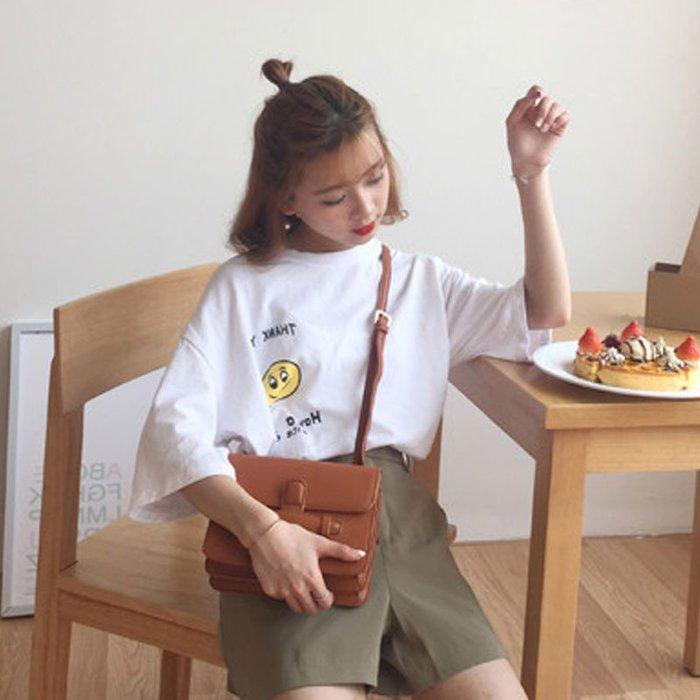 短袖女T恤夏韓國ulzzang原宿學院風體恤學生潮寬松百搭半袖上衣服韓版女裝短袖T恤 長款 短款 寬鬆