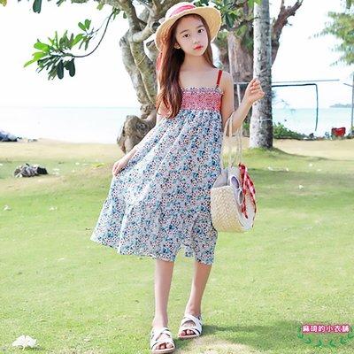 [memene] 日韓版女童 碎花連衣裙 雪紡裙 吊帶裙