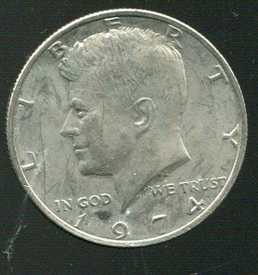 【錢幣】United States(美國),1/2-DOLLAR,1974,甘迺迪,品相極美XF #1907213