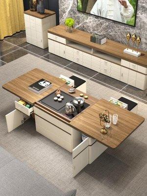 多功能茶几 功夫茶幾簡約現代大小戶型客廳伸縮可升降茶桌椅組合茶臺桌  『』 SHNK
