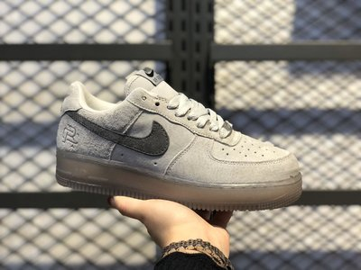 NIKE AIR FORCE 1 X REIGNING CHAMP AA1117-118衛冕冠軍聯名 低筒灰白 休閒運動