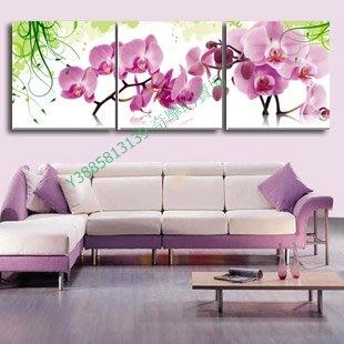 【40*40cm】【厚2.5cm】蝴蝶蘭-無框畫裝飾畫版畫客廳簡約家居餐廳臥室牆壁【280101_020】(1套價格)