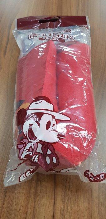 7-11 Disney 迪士尼 夢幻露營【兩用頸枕毯 紅色款】現貨2只!!