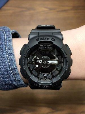 FOCA☆Casio G-shock BABY-G ☆ 多層次立體錶盤 黑色 黑銀  43mm BA-110BC-1A 少女時代 女錶 台北市