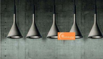 【LUNA LIGHT 月之燈坊】複刻北歐設計Foscarini Aplomb仿水泥吊燈附贈LED(P-333)