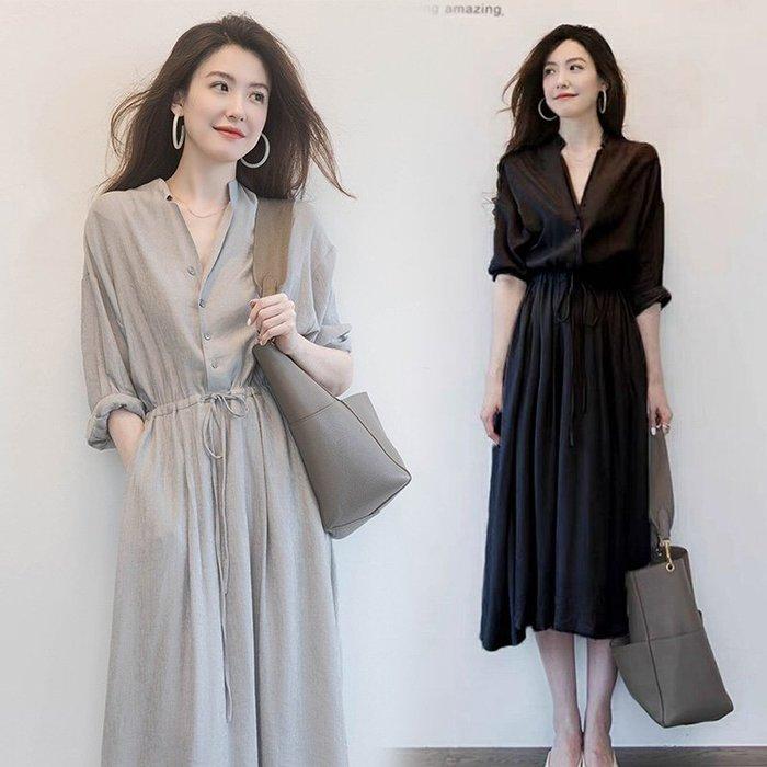 連身裙 #2049 ?Mini Moda?  輕熟文青 雪紡長裙