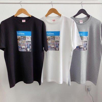 美國supreme潮牌21SS新款Verify Tee街景FB九宫格驗証男女裝黑白色短袖T恤tee